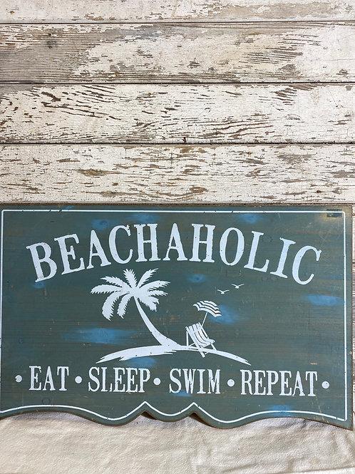 Beachaholic Sign