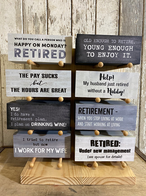 Funny Retirement Self-sitters - Assorted