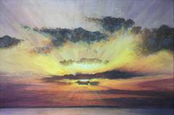 Sunset over Whitstable Bay