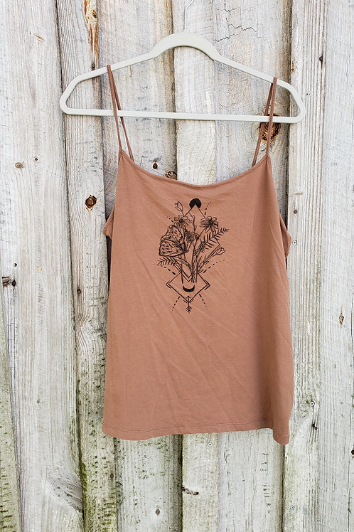 Upcycled Hand Drawn Butterfly Tank - Size 2X - 3X