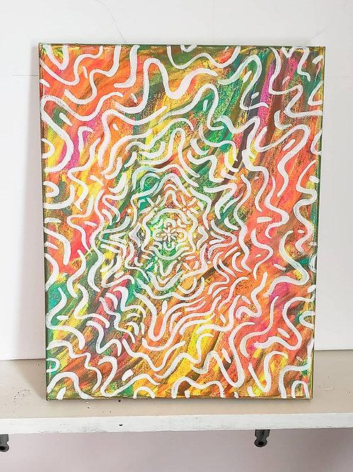 "Zebra Gum - Original 11""x 14"""