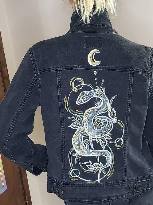 REBORN - Hand Painted Denim Jacket