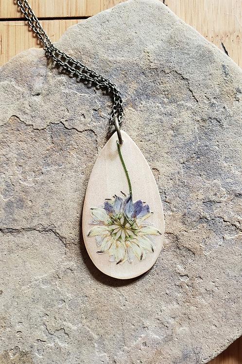 Wildflower Teardrop Necklace