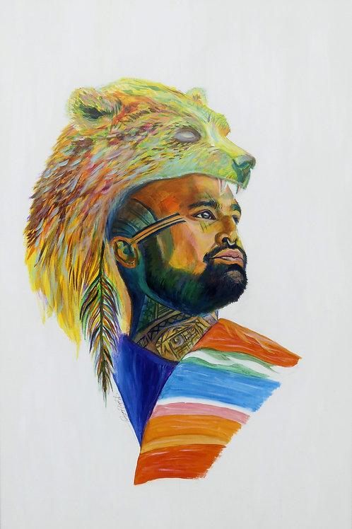 Rainbow Nahko Bear - Fine Art Print
