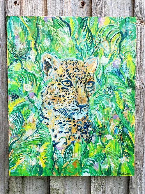 "Jungle Cat - Original 24"" x 30"""