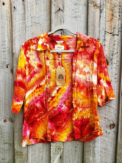 Upcycled Fire Goddess Top (L)