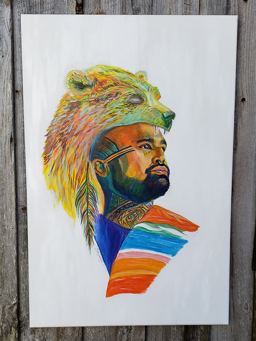 Rainbow Nahko Bear - Original 2ft x 3ft