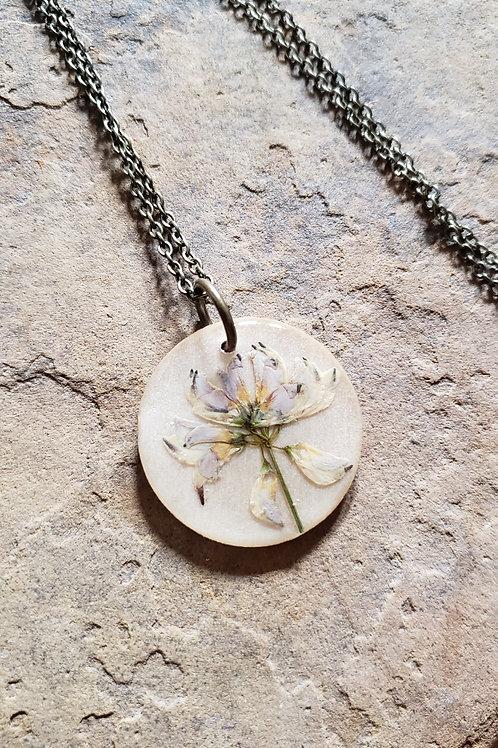 Mini Wildflower Round Necklace