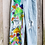"Thumbnail: Hand Painted Mushroom Jeans - 30"" high waisted, baggy"