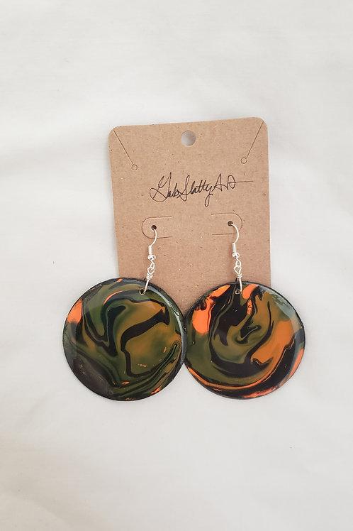 Dusk Dreams - Paint Pour/Epoxy Resin Earrings