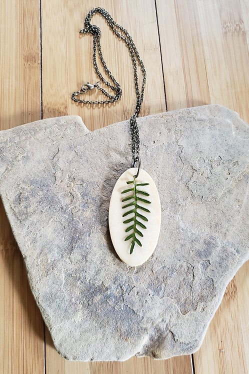 Real Fern Necklace in Epoxy Resin