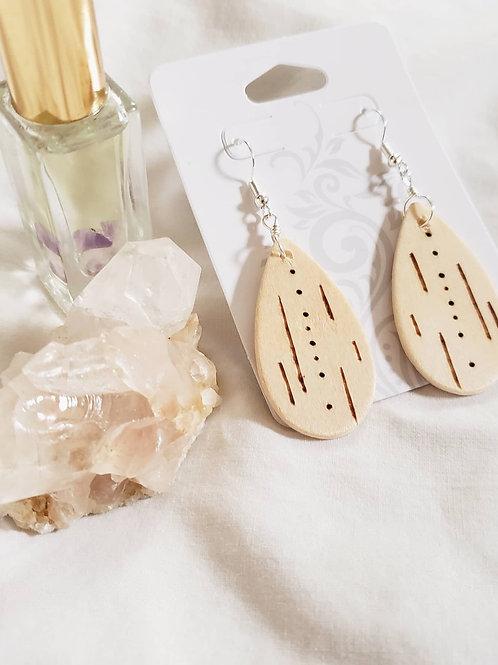 Stars Aligned - Wood Burn Earrings