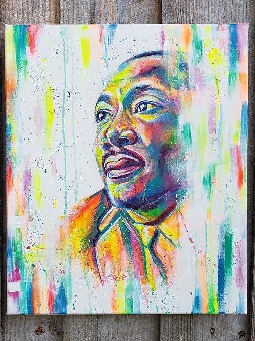 "Rainbow MLK - Original 20"" x 24"""