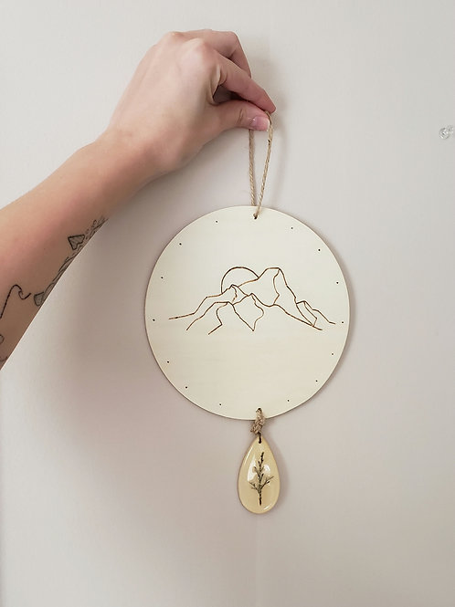 Home in the Mountains - Wood Burned Wall Hanging