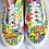 Thumbnail: Hand drawn + painted mushroom Vans - Brand NEW shoes!