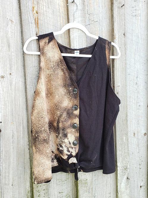 Upcycled Half Bleach Vest - Size 2X
