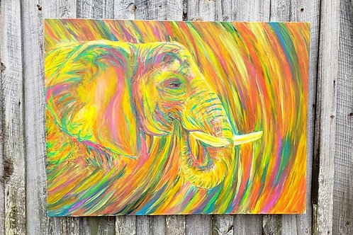Psychedelic Elephant - Original