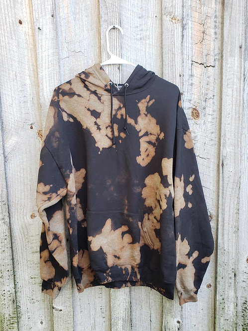 XL Extra Soft Bleach Dye Hoodie