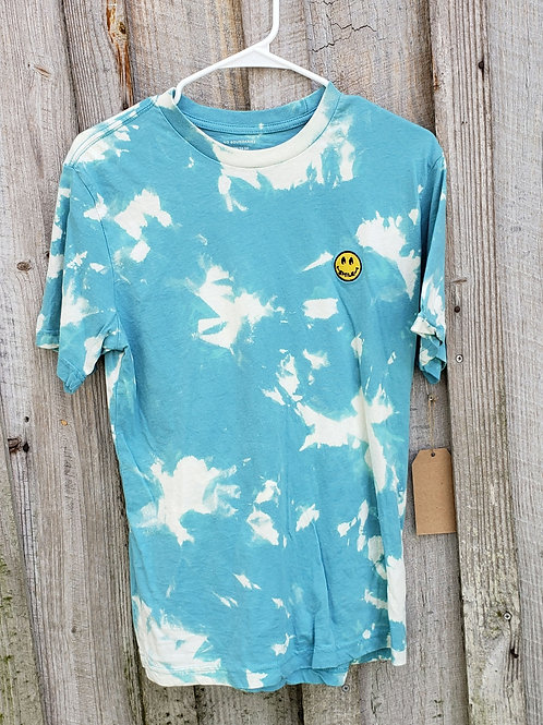 Upcycled Smiley Tee - Size Men's S (unisex)