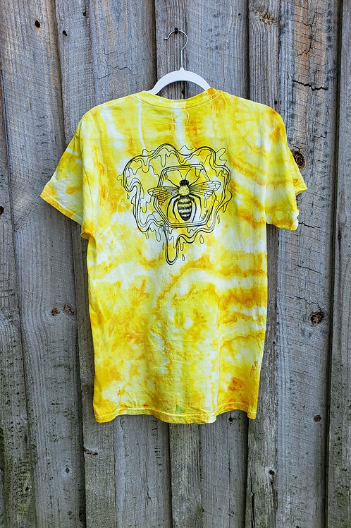 Hand Dyed & Drawn Geode Bee Tee (M)