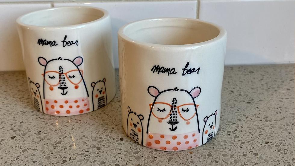 "3""x3"" Mama Bear Pot"