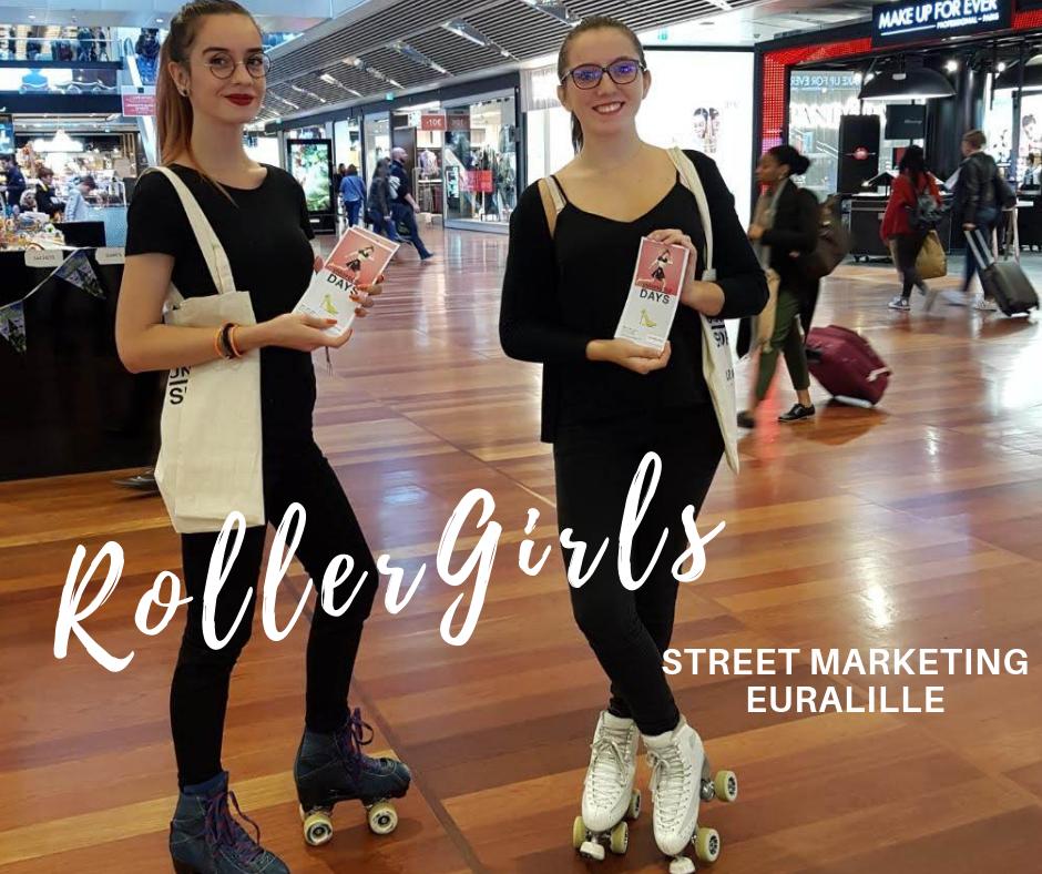 Centre Commercial Euralille _ Roller Girl Hôtesses