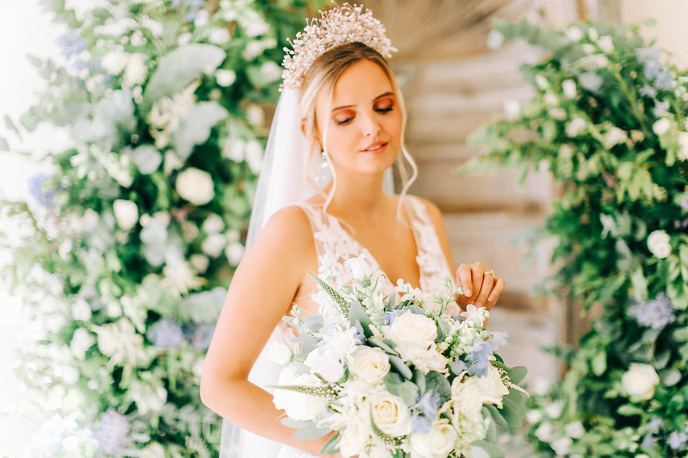 bridal tiara from Abigail grace bridal Accessories on bride at hamswell house bath