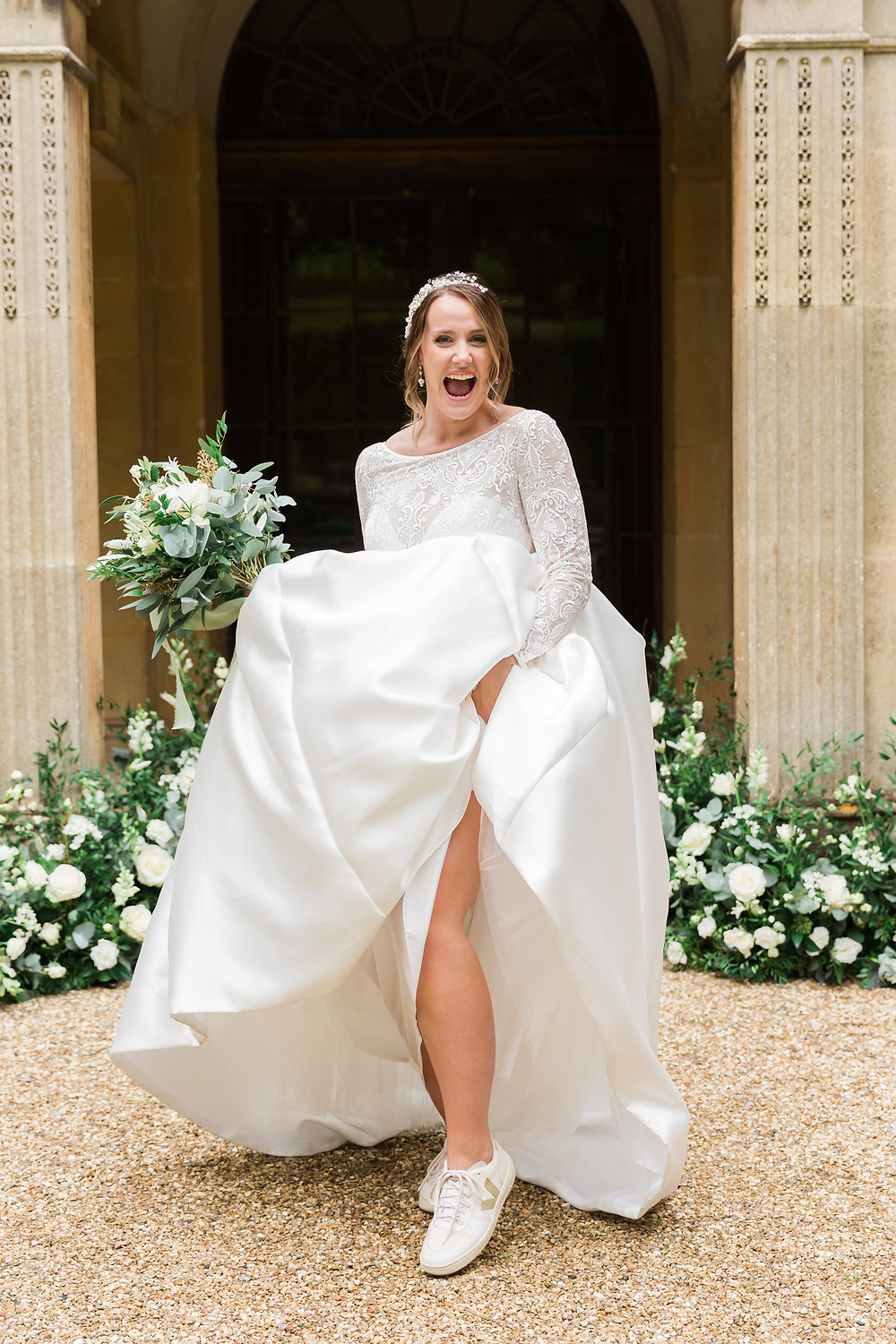 Sassi Holford wedding dress and Abigail Grace Bridal Accessories