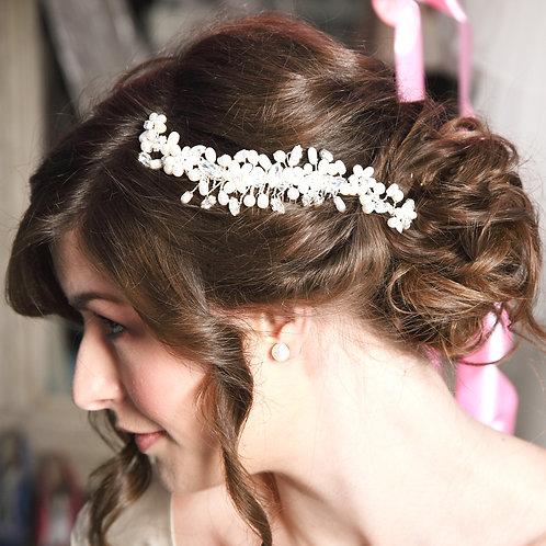 Pearl wedding hair comb