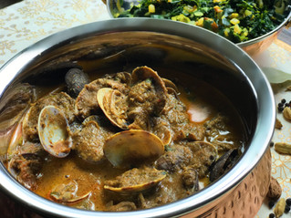 My Great Grandma's Authentic Clam Curry. Equally currylicious vegan option included, since I kno