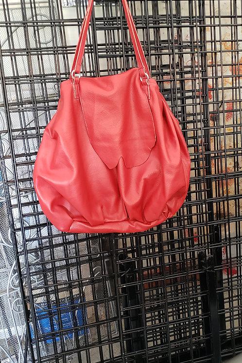 Bag 7 red leather  dump bag