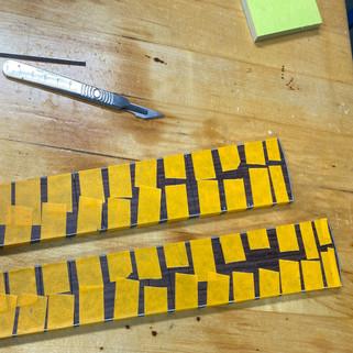 Fretboard Perfling Installed
