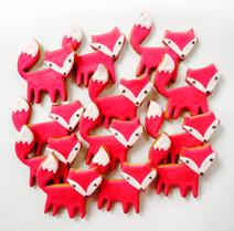 Autumn fox biscuits