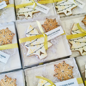 Bespoke festive hand biscuit gifts for clients