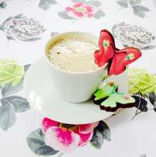 Butterfly cup slider iced biscuits