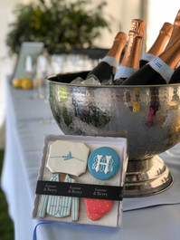 Biscuit gifts for clients of Goose and Berry attending the Henley Royal Regatta - hand iced