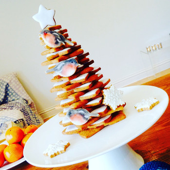 A festive and edible centrepiece - our spiced ginger tree