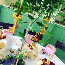 Key iced biscuits for a Secret Garden themed event