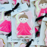 Princess iced biscuits for Clarissa