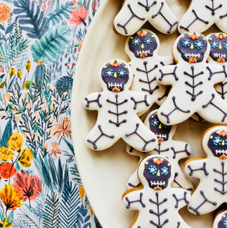 Day of the Dead Skeleton iced biscuits