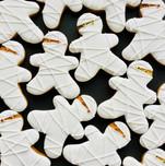 Cute Mummy Halloween biscuits