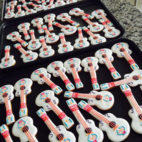 Bespoke guitar hand iced biscuits for Disney Pixar