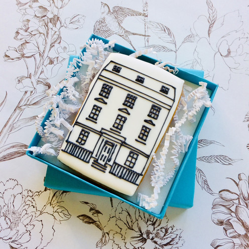 This bespoke biscuit order was a cute way of letting clients know about an office move - hand iced