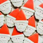 Our cute Father Christmas biscuits