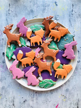 Woodland themed biscuits