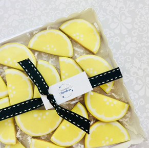 Zesty lemon iced biscuits