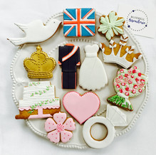Ice biscuits for a Royal Wedding Par-tea