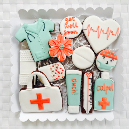 Our emergency first aid kit chocolate iced biscuits!