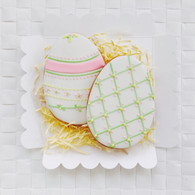 Pretty Easter egg iced biscuits