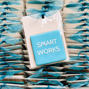 Biscuit favours for Smart Works Charity - stencilled